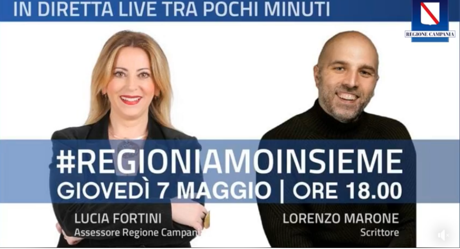 Lucia Fortini in streaming con lo scrittore Lorenzo Marone