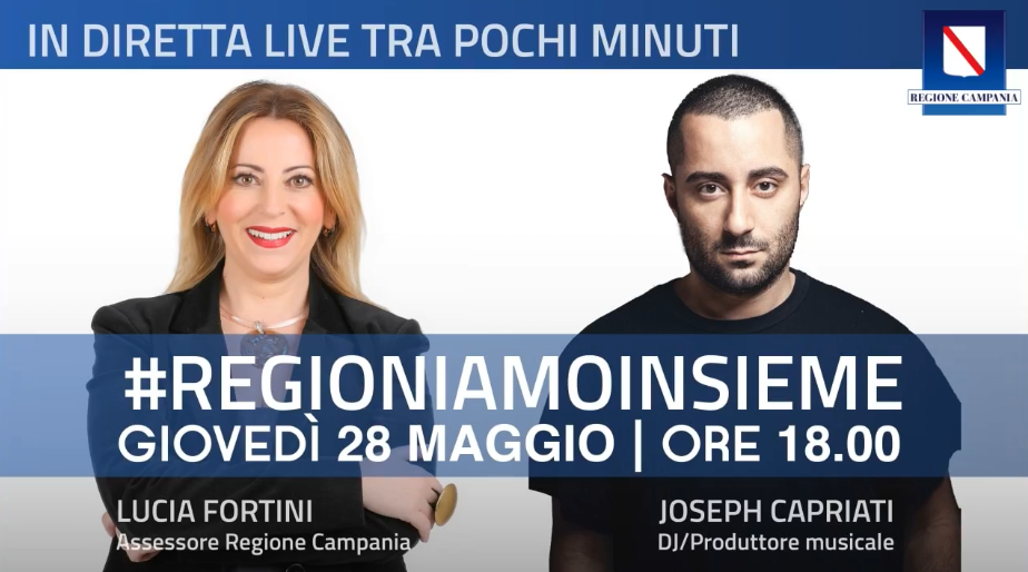 L'Assessore Fortini in streaming con il DJ Capriati