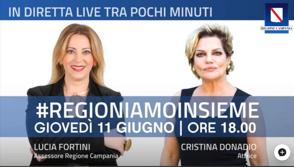 L'Assessore Fortini in streaming con Cristina Donadio